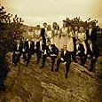Sandstone Cliff Wedding Party Photo at Lionscrest
