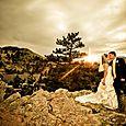 Colorado Mountain Wedding Views at Sunset- Lionscrest Manor