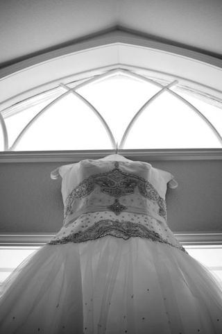 Mountain Reception CO Arch Wedding Gown Lionscrest Manor