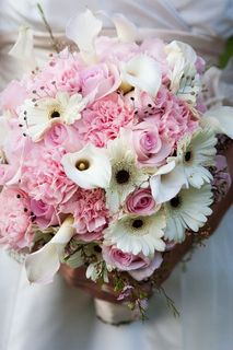 Ashley Davis Pink Bridal Flowers