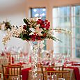 Gold and Red Table Setting with Gold Chivalri Chairs