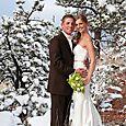 Colorado Winter Wedding Outdoor Photo at Lionscrest