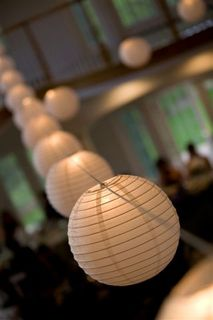 Garden Lanterns at Wedding Reception