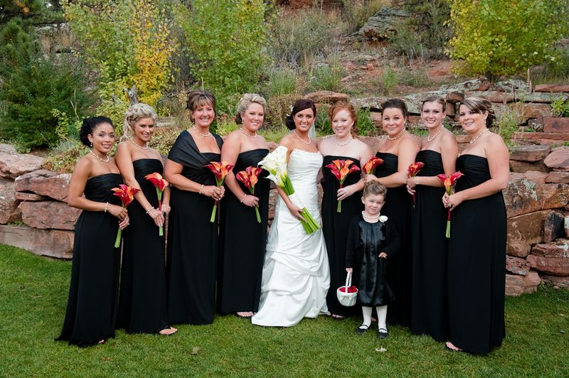 Fall Wedding Bridal Party Special Thanks To Creative Focus Photography And